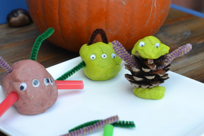 Halloween Play dough - Play dough Monsters for halloween