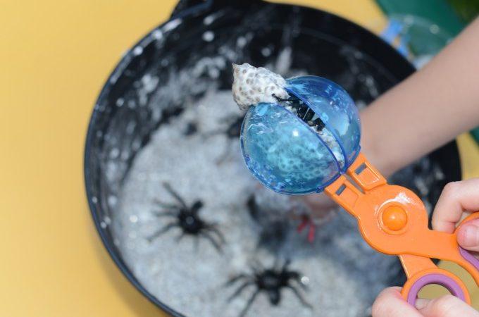 Halloween chia seed slime
