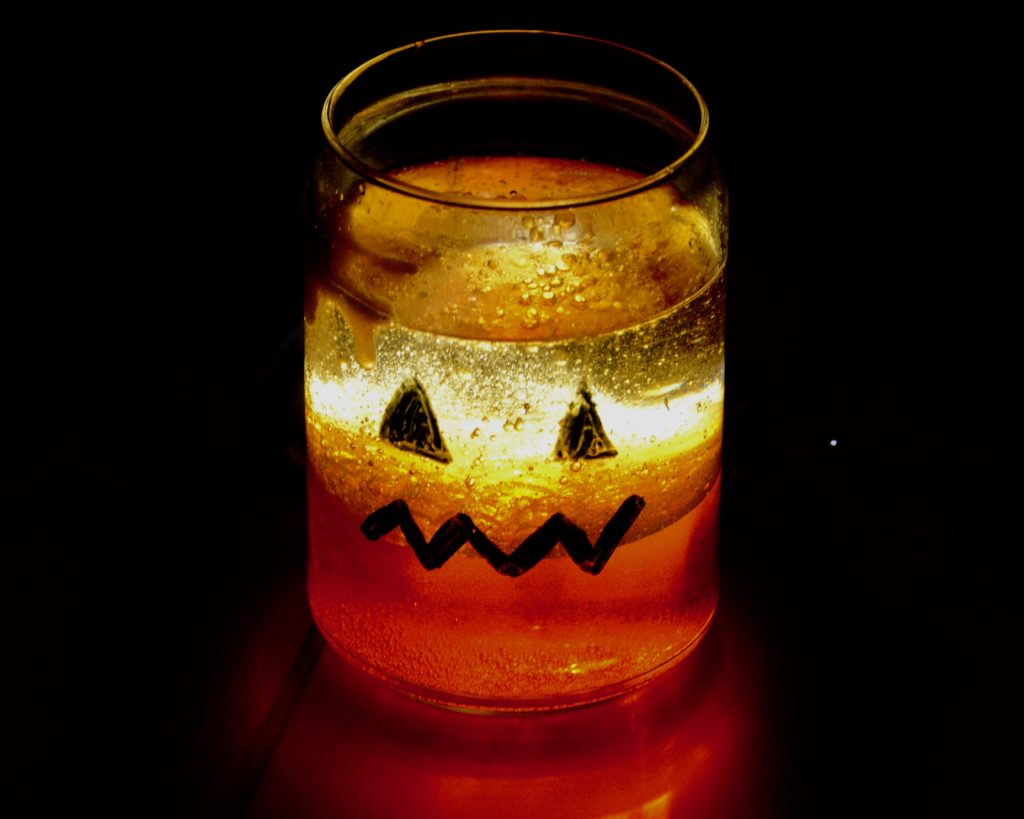 lava lamps for halloween - part of a top 10 science experiments for Halloween collection