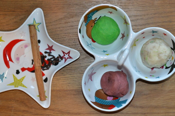 Christmas scented play dough