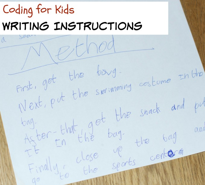 Writing-instructions