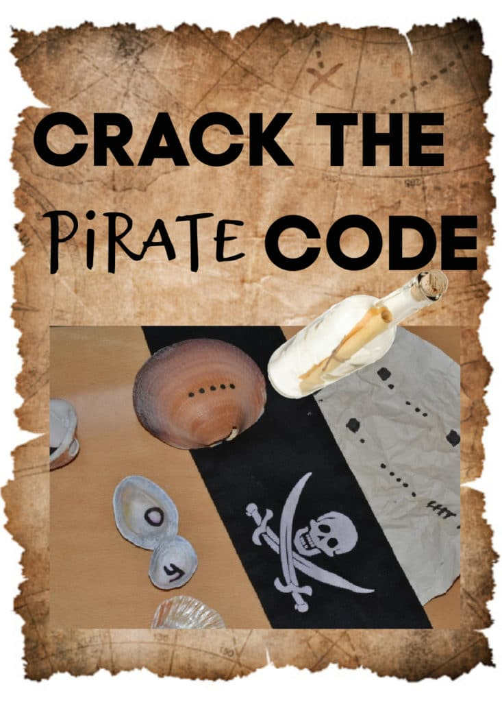 Fun pirate code activity for kids - crack the code to find the treasure #piratescience #codecracking