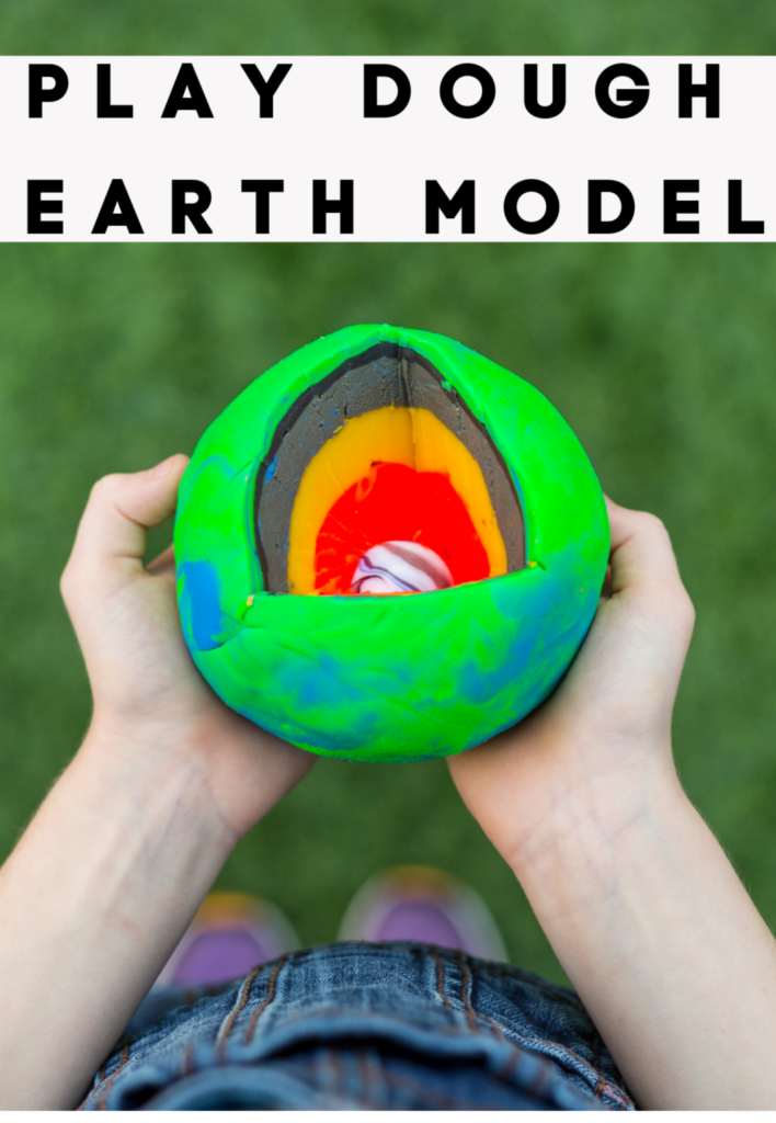 Play dough model of the Earth - Space Science for Kids #spacescience #scienceforkids #EarthScience