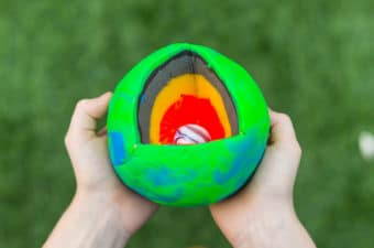Play dough model of the Earth - space science for kids