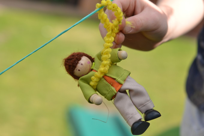 Jack and beanstalk science experiments - science for kids - make a zip wire for Jack.