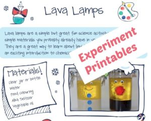 lava lamp instruction sheet - FREE Science Printable