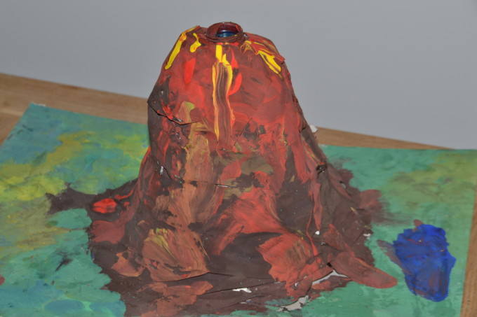 Homemade volcano