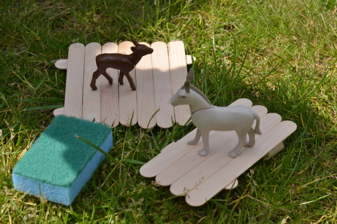 Billy Goat Gruff Raft - easy Fairy Tale STEM for Kids