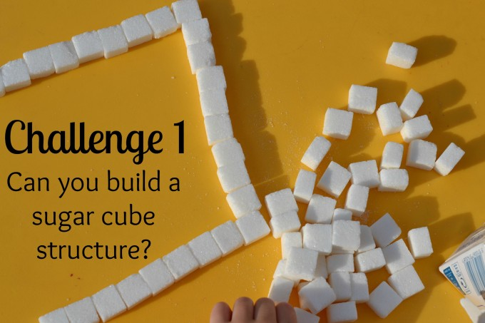 Challenge 1 - build sugar cubes towers #easyscienceforkids #scienecchallenges
