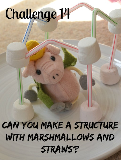 Marshmallow and straw tower - easy edible stem challenge for kids