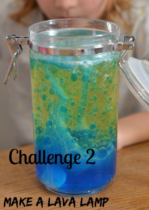 Challenge 2 - Make a lava lamp - easy science challenge for kids #scienceforkids #STEM #Science