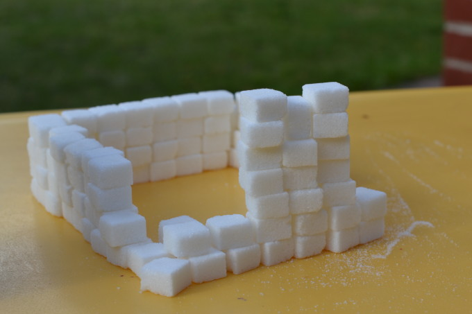 sugar cube house for the Three Little Pigs