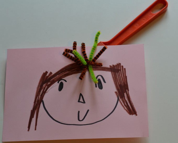 make crazy hair with pipecleaners and a magnet wand