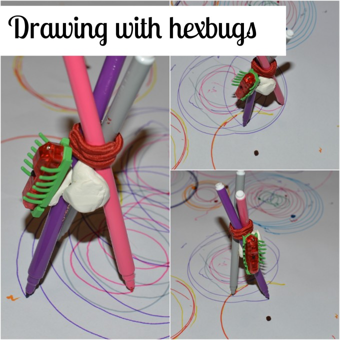 Drawing with hexbugs