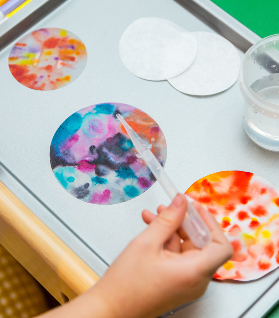 Chromatography firework craft for kids