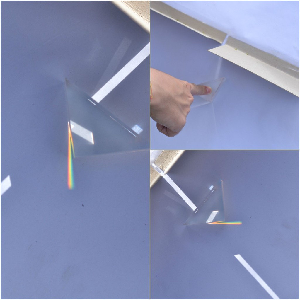 How to split light with a triangular prism #physicsforkids