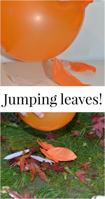 static electricity experiment - jumping leaves