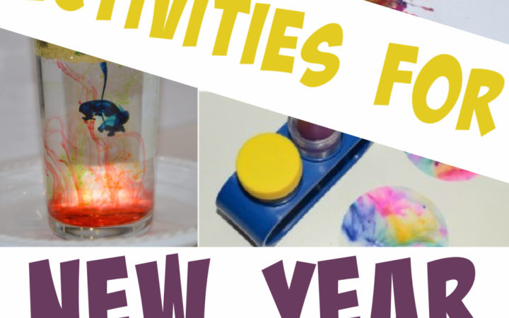 ideas for kids activities at New Year