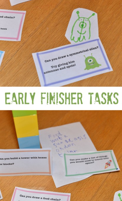 Science Early finisher tasks