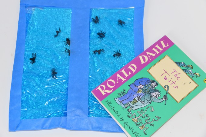 Mr Twit hair gel sensory bag with spiders