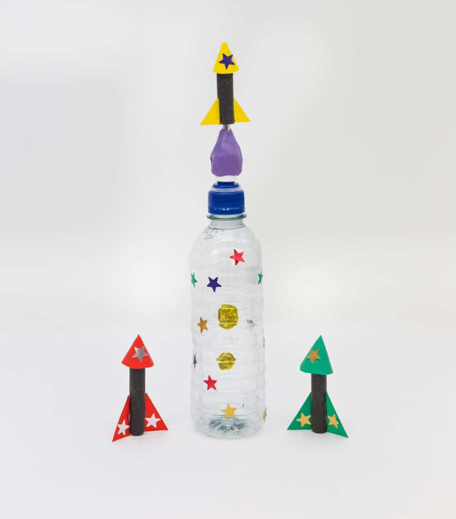 Squeezy Bottle rocket craft for kids