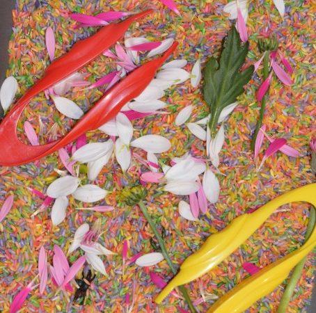 Flower sensory tray
