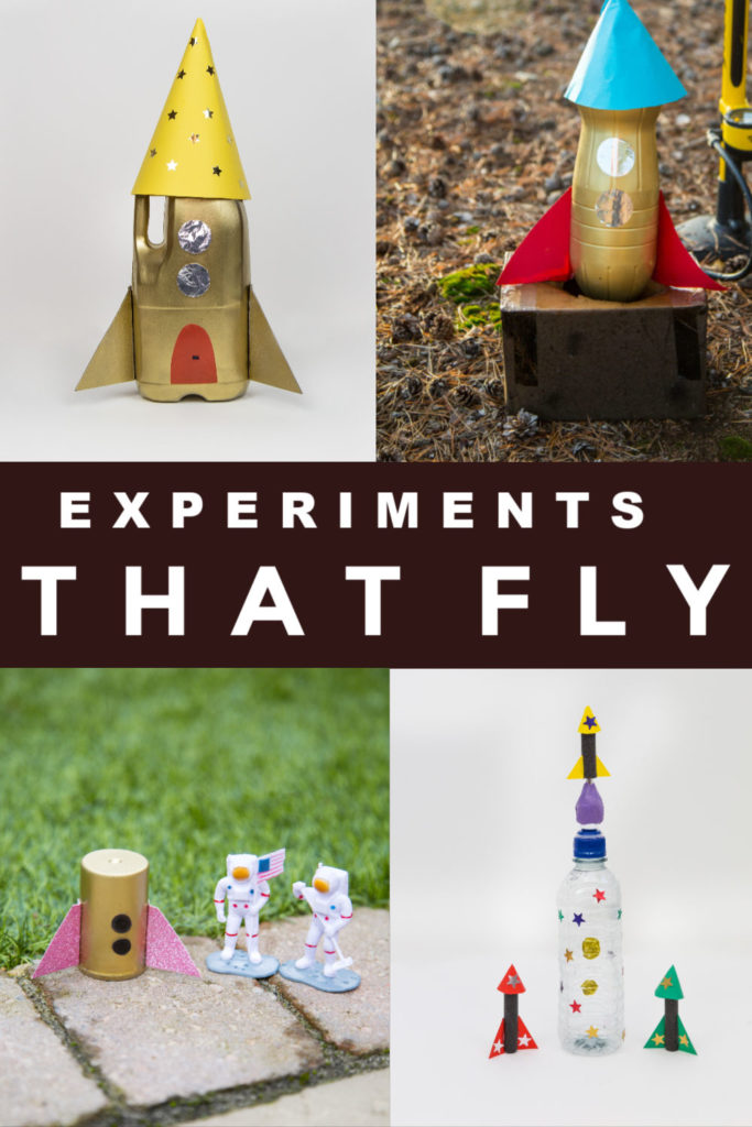 Experiments you can make FLY!! Make a bottle rocket, film caniste rocket, rocket mouse and other awesome flying experiments #scienceforkids #gravityexperiments #rockets #rocketexperiments #flyingexperiments