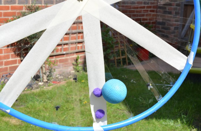 spider web with a hula hoop
