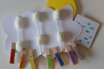 Easy colours of the rainbow craft
