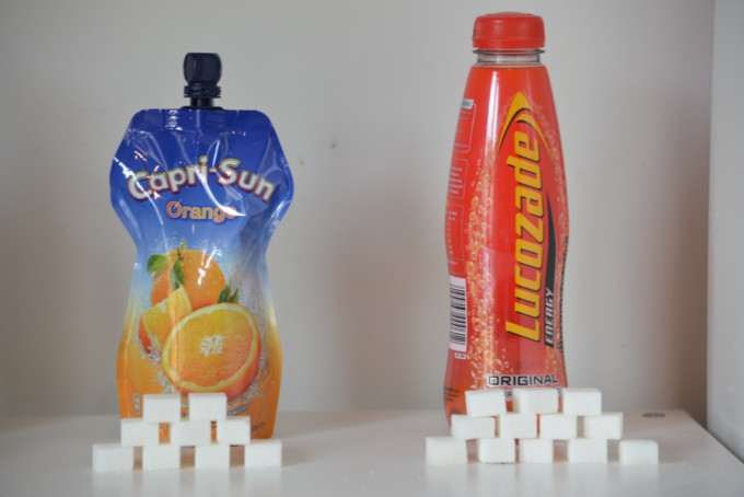 How much sugar in lucozade