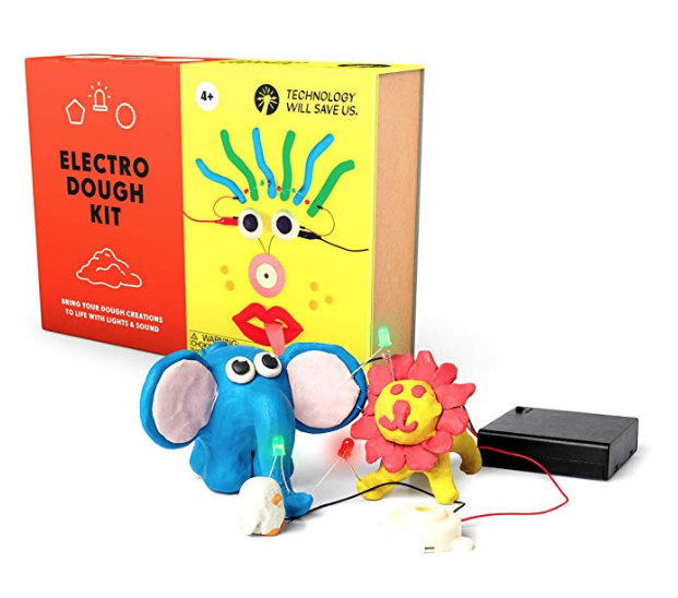 Electro dough kit for making play dough circuits