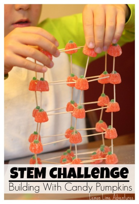 Halloween STEM Challenge - candy structures