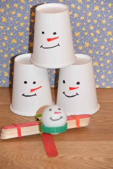 Snowman catapult #ChristmasScience #SnowmanScience