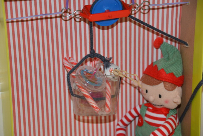 Elf Pulley - easy Christmas STEM idea