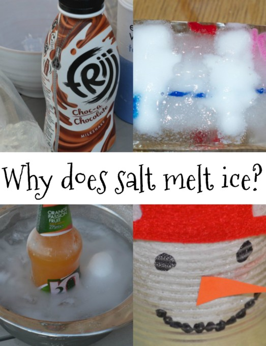 why does salt melt ice