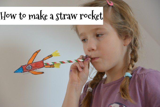 How to make a straw rocket - science for kids