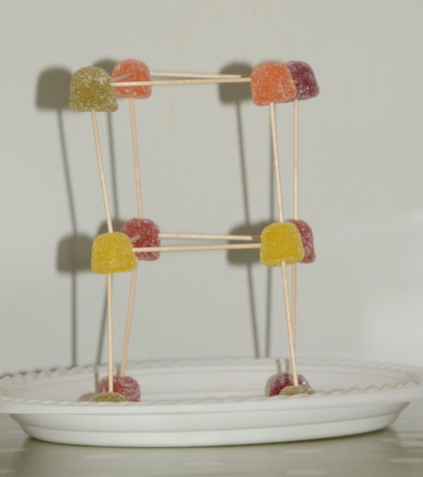 cocktail stick tower