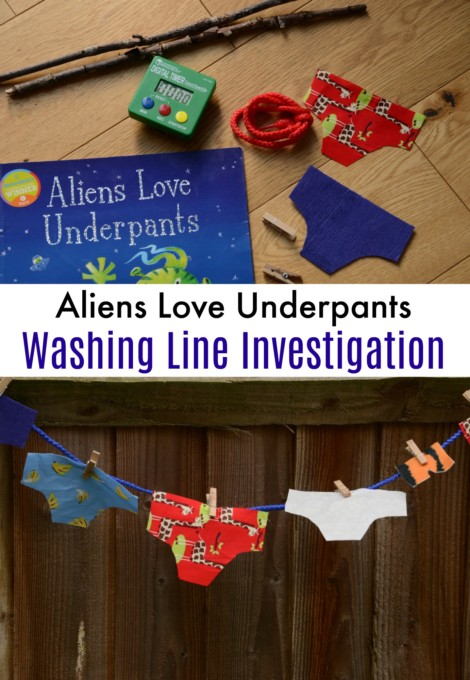 Aliens Love Underpants Activity - great for learning about properties of materials #scienceforkids #earlyyears #preschoolscience #scienceinvestigation