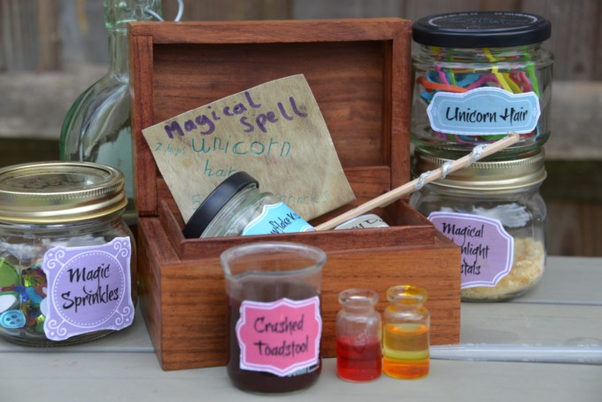 Fairy Potion Ingredients - fizzy science experiments for kids