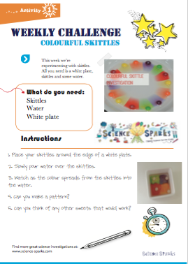 Colourful Skittles Challenge