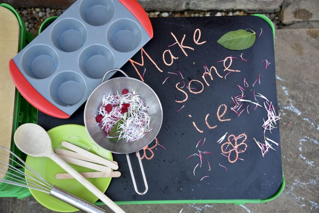 Everything you need to make flowery ice
