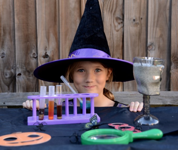 Witches laboratory for Halloween