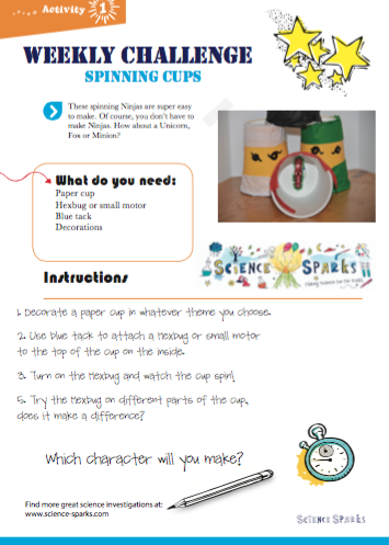 Spinning cups printable