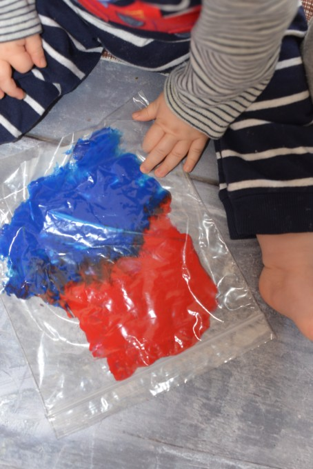mixing colours activity