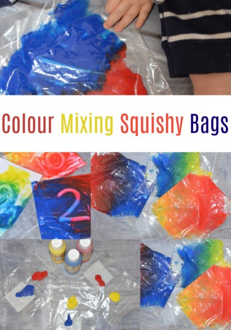 Mixing colours with squishy bags