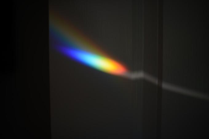 rainbow through a prism