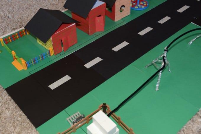Cardboard model street