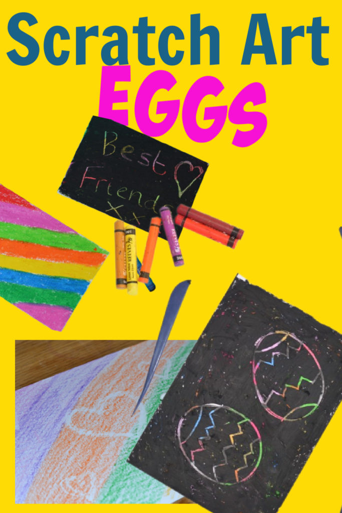 scratch art images - themed for Easter