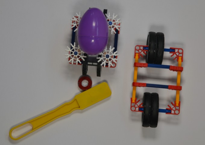 Magnet powered cares for EASTER - sTEM for kids #Easterscience