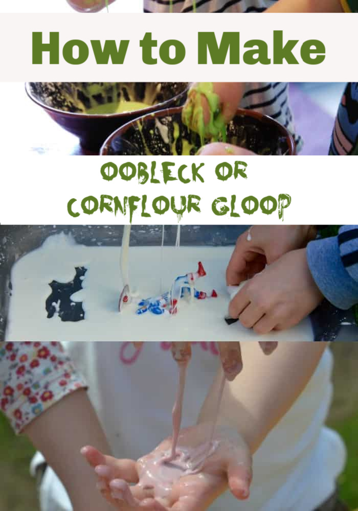 How to make oobleck or cornflour gloop or cornflour slime #ktichenscienceforkids #slimeforkids #scienceforkids
